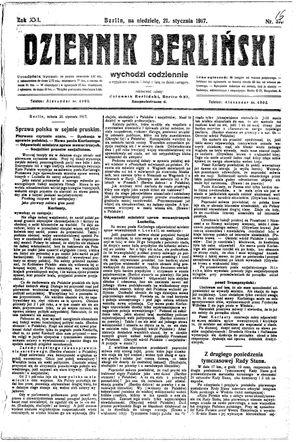 Dziennik Berliński vom 21.01.1917