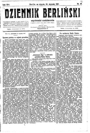 Dziennik Berliński on Jan 23, 1917