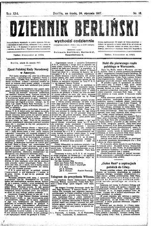 Dziennik Berliński vom 24.01.1917
