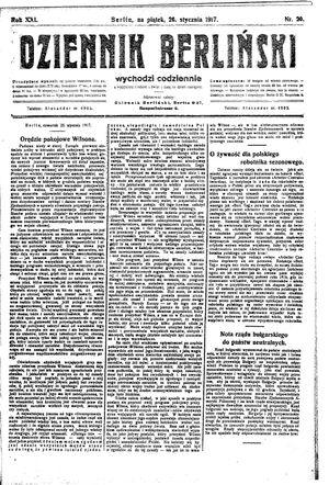 Dziennik Berliński vom 26.01.1917
