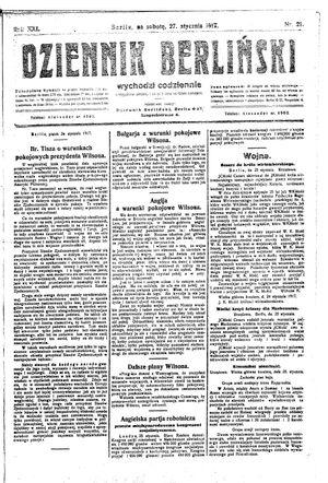Dziennik Berliński vom 27.01.1917