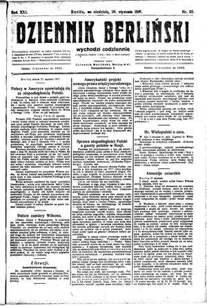 Dziennik Berliński vom 28.01.1917