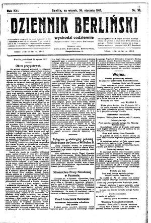 Dziennik Berliński vom 30.01.1917