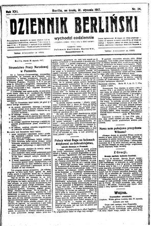 Dziennik Berliński vom 31.01.1917