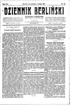 Dziennik Berliński vom 01.02.1917