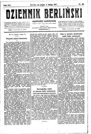 Dziennik Berliński vom 02.02.1917