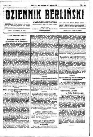 Dziennik Berliński on Feb 6, 1917
