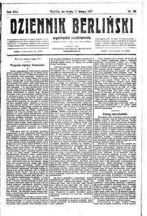Dziennik Berliński vom 07.02.1917