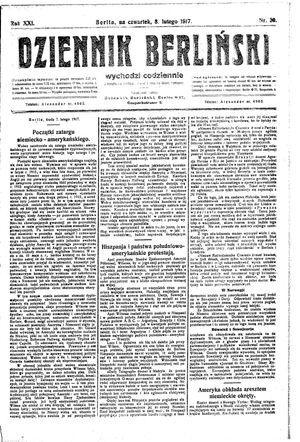 Dziennik Berliński vom 08.02.1917