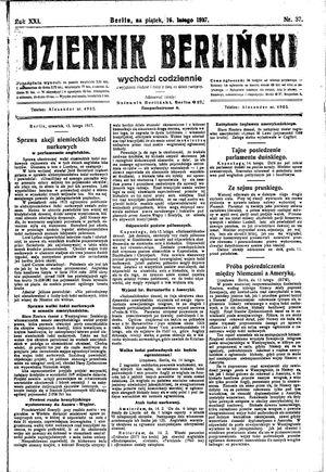 Dziennik Berliński vom 16.02.1917