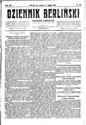 Dziennik Berliński vom 17.02.1917