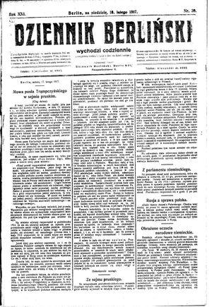 Dziennik Berliński vom 18.02.1917