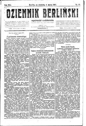 Dziennik Berliński vom 04.03.1917