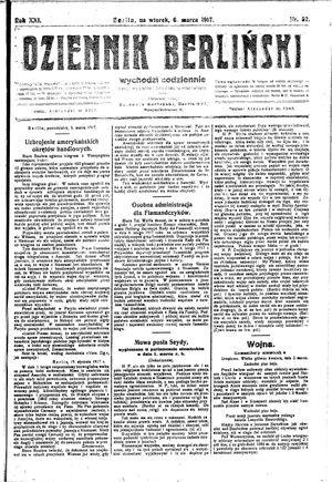 Dziennik Berliński vom 06.03.1917