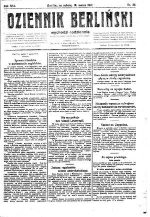 Dziennik Berliński vom 10.03.1917