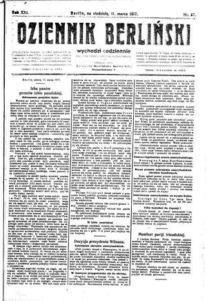 Dziennik Berliński vom 11.03.1917