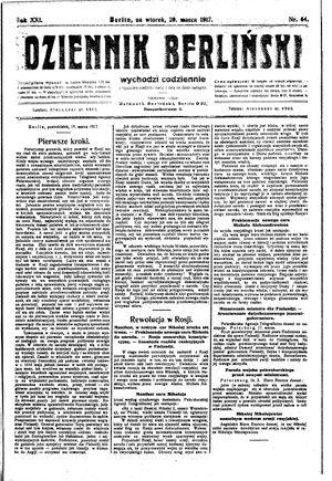Dziennik Berliński vom 20.03.1917