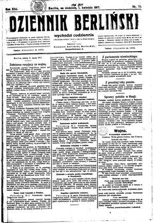 Dziennik Berliński vom 01.04.1917