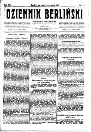 Dziennik Berliński vom 04.04.1917