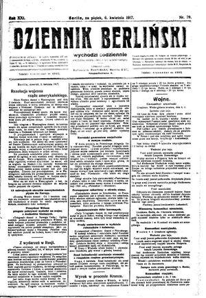 Dziennik Berliński vom 06.04.1917