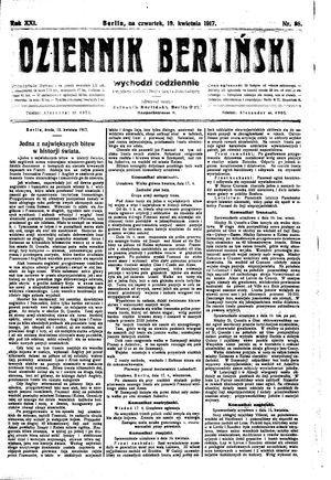 Dziennik Berliński on Apr 19, 1917