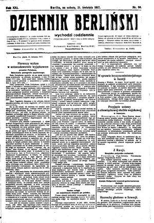 Dziennik Berliński vom 21.04.1917