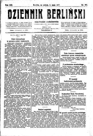 Dziennik Berliński vom 05.05.1917