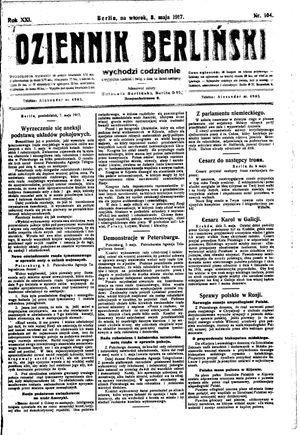 Dziennik Berliński vom 08.05.1917