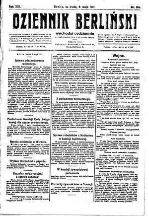 Dziennik Berliński on May 9, 1917