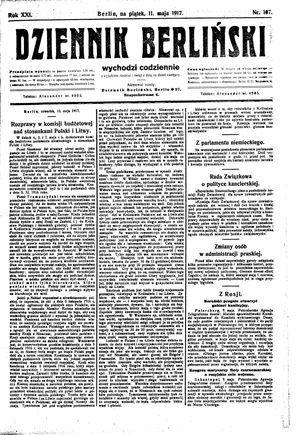 Dziennik Berliński on May 11, 1917