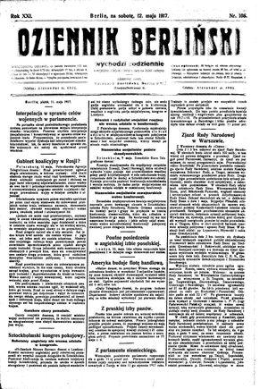Dziennik Berliński vom 12.05.1917