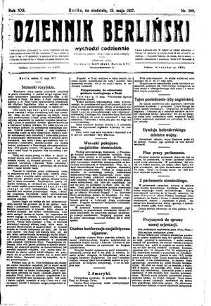 Dziennik Berliński vom 13.05.1917