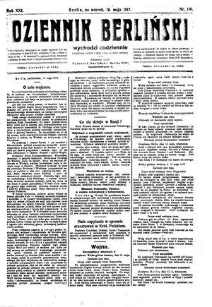 Dziennik Berliński vom 15.05.1917