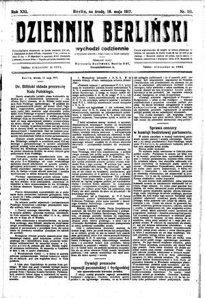 Dziennik Berliński vom 16.05.1917