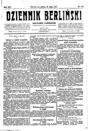 Dziennik Berliński vom 19.05.1917