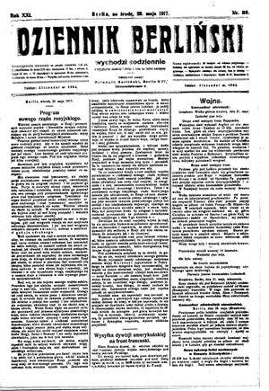Dziennik Berliński vom 23.05.1917