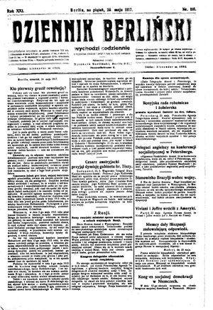 Dziennik Berliński vom 25.05.1917