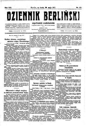 Dziennik Berliński vom 30.05.1917