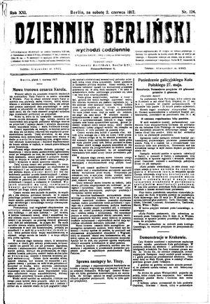 Dziennik Berliński vom 02.06.1917