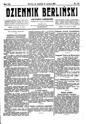 Dziennik Berliński vom 03.06.1917
