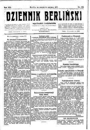 Dziennik Berliński vom 05.06.1917
