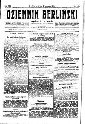 Dziennik Berliński vom 06.06.1917
