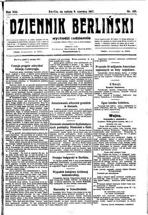 Dziennik Berliński vom 09.06.1917