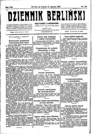 Dziennik Berliński vom 12.06.1917