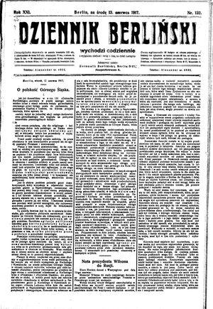 Dziennik Berliński vom 13.06.1917