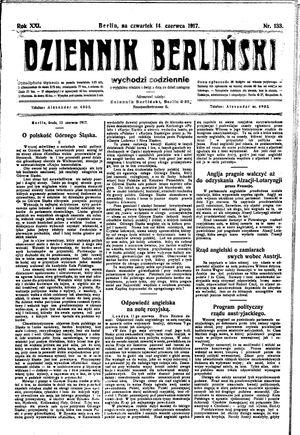 Dziennik Berliński vom 14.06.1917