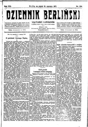 Dziennik Berliński vom 15.06.1917