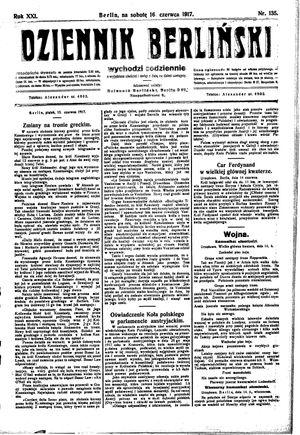 Dziennik Berliński vom 16.06.1917