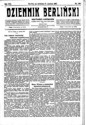 Dziennik Berliński vom 17.06.1917