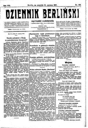 Dziennik Berliński vom 21.06.1917